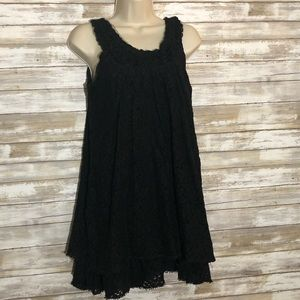 Papillon lace sleeveless dress